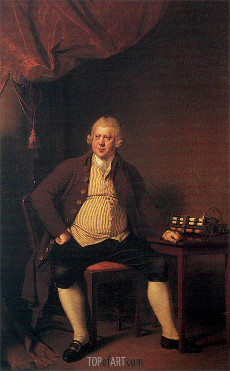 Portrait of Sir Richard Arkwright, c.1789/90 | Wright of Derby | Painting Reproduction