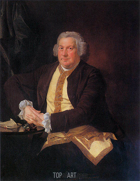 Portrait of Francis Hurt, c.1780 | Wright of Derby | Gemälde Reproduktion
