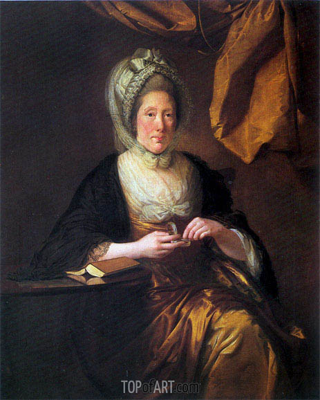 Portrait of Mrs Francis Hurt, c.1780 | Wright of Derby | Gemälde Reproduktion