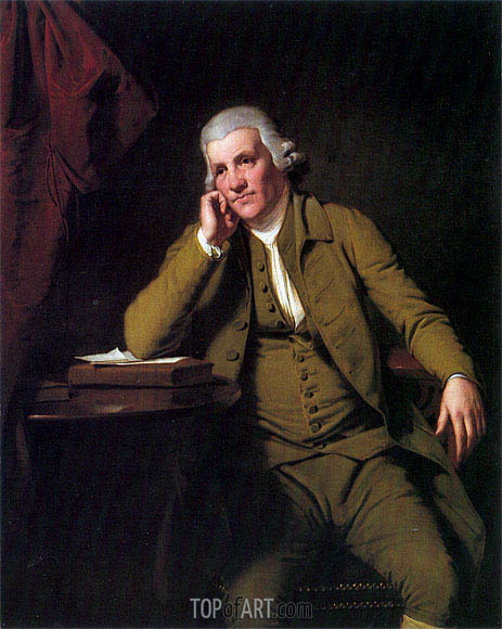 Portrait of Jedediah Strutt, c.1790 | Wright of Derby | Painting Reproduction