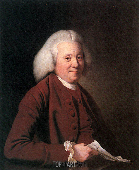 Portrait of Samuel Crompton, c.1780 | Wright of Derby | Painting Reproduction