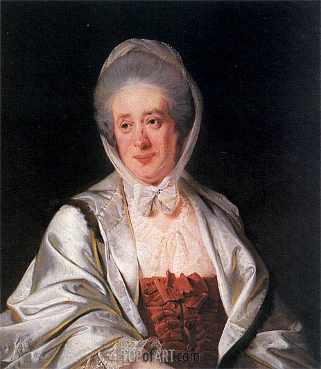 Portrait of Mrs Samuel Crompton, c.1780 | Wright of Derby | Gemälde Reproduktion