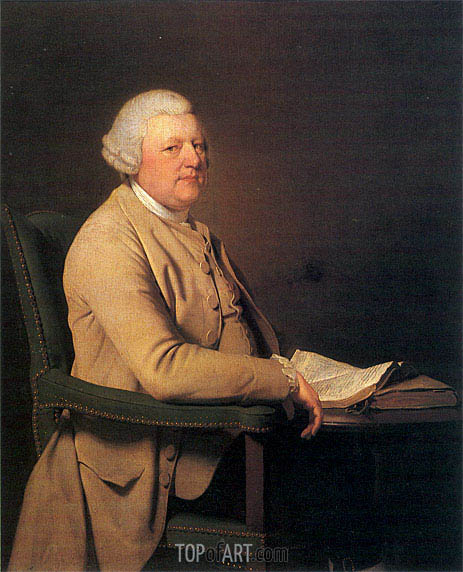 Portrait of Richard Cheslyn, c.1777 | Wright of Derby | Painting Reproduction