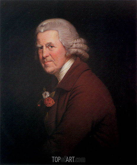 Portrait of Old John, Head Waiter at the King's Head in Derby, c.1780 | Wright of Derby | Painting Reproduction