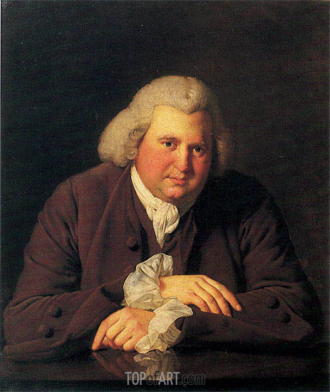 Wright of Derby | Portrait of Erasmus Darwin, c.1770