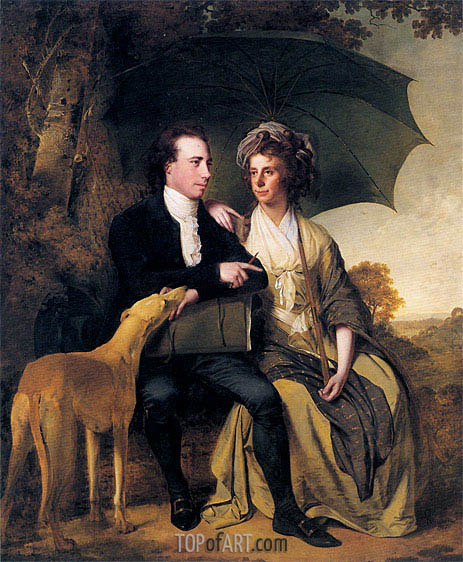 Portrait of Rev. Thomas Gisborne and his Wife Mary, 1786 | Wright of Derby | Painting Reproduction