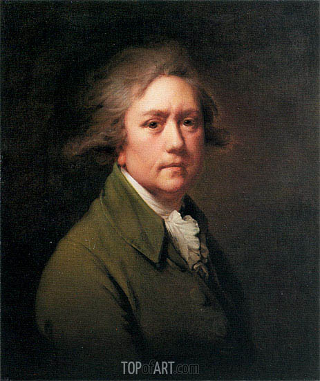 Self Portrait at the Age of about Fifty, c.1782/85 | Wright of Derby | Gemälde Reproduktion