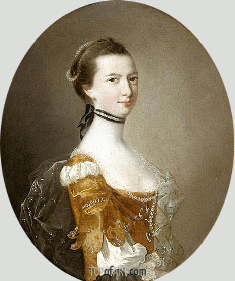 Portrait of a Lady, undated | Wright of Derby | Painting Reproduction