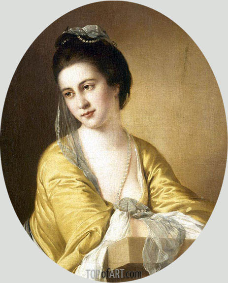 Portrait of Miss Theodora Fortune, undated | Wright of Derby | Gemälde Reproduktion