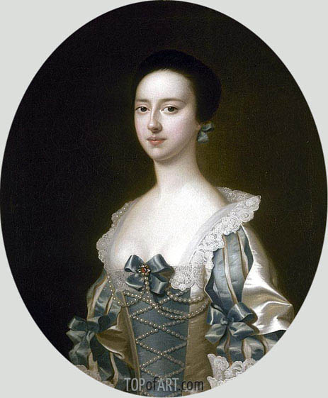 Wright of Derby | Portrait of Anne Bateman later Mrs John Gisborne, 1755