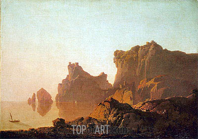 The Gulf of Salerno, c.1783/85   Wright of Derby   Painting Reproduction
