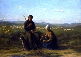 Die Hirten Gebet, 1864 von Jozef Israels | Gemälde-Reproduktion