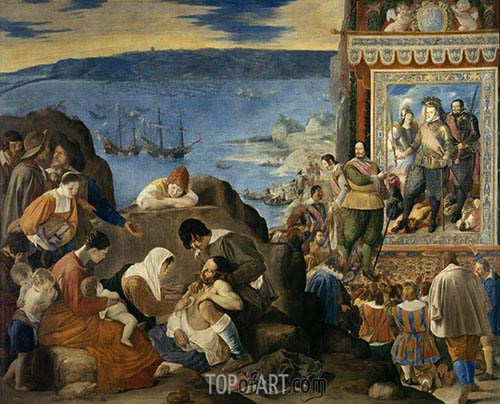 The Reconquest of Bahia, c.1634/35 | Juan Bautista Maino | Painting Reproduction