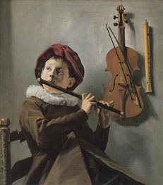 The Young Flute Player, c.1630/35 von Judith Leyster | Gemälde-Reproduktion