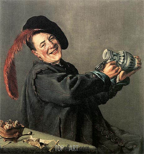 The Jolly Toper, 1629 | Judith Leyster | Gemälde Reproduktion