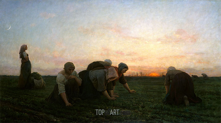 Jules Breton | The Weeders, 1868