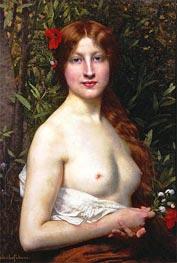 Fleurs des Champs (Flora), Undated by Jules Joseph Lefebvre | Painting Reproduction