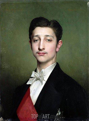 Jules Joseph Lefebvre | Portrait of Eugene-Louis-Napoleon Bonaparte, 1874