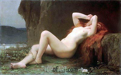 Mary Magdalene in the Cave, 1876 | Jules Joseph Lefebvre| Gemälde Reproduktion