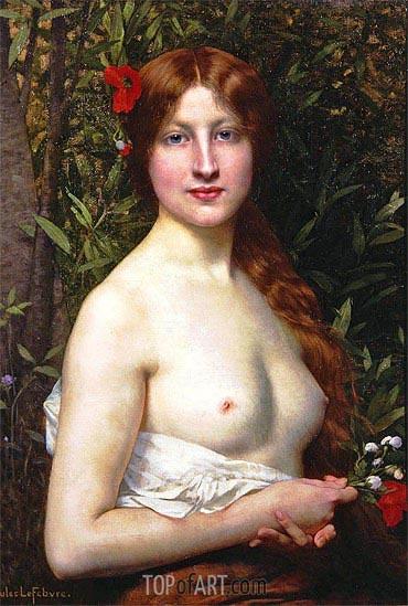 Jules Joseph Lefebvre | Fleurs des Champs (Flora),
