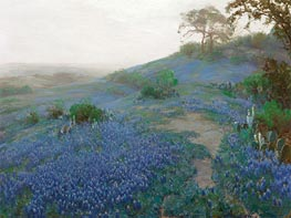Blue Bonnet Field, Early Morning, San Antonio, Texas, 1914 by Julian Onderdonk | Painting Reproduction