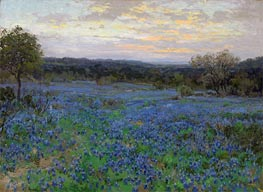 Field of Bluebonnets at Sunset, undated by Julian Onderdonk | Painting Reproduction