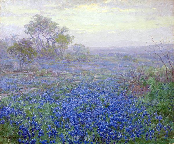 Julian Onderdonk | Einem bewölkten Tag, blaue Wiesenlupine der Nähe von San Antonio, Texas, 1918