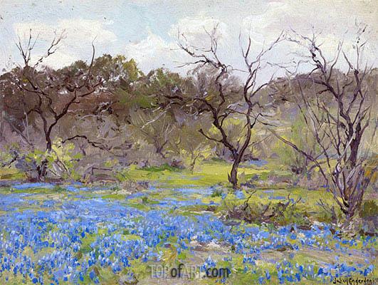 Julian Onderdonk | Frühjahr, blaue Wiesenlupine und Mesquitebaum, 1919