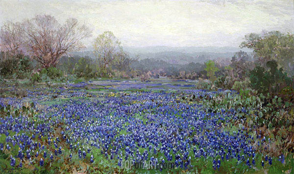 Field of Bluebonnets, undated | Julian Onderdonk | Painting Reproduction