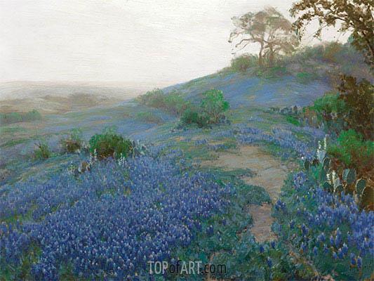 Blue Bonnet Field, Early Morning, San Antonio, Texas, 1914 | Julian Onderdonk | Painting Reproduction