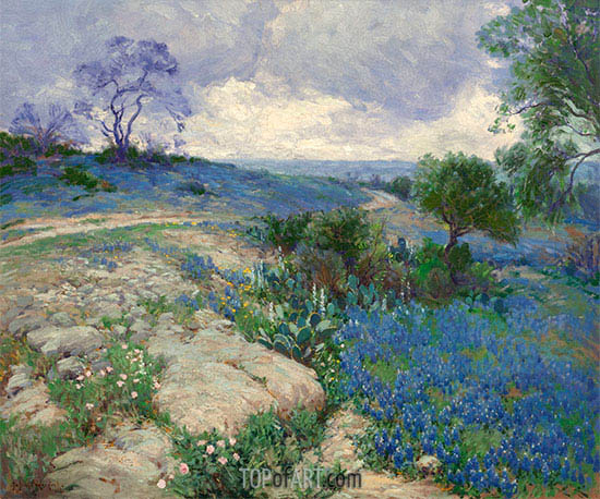 Texas Landscape with Bluebonnets, undated | Julian Onderdonk | Painting Reproduction