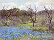 Frühjahr, blaue Wiesenlupine und Mesquitebaum, 1919 | Julian Onderdonk