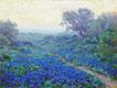 Blaue Wiesenlupine bei Sonnenaufgang, 1917 | Julian Onderdonk