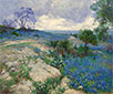 Texas Landschaft mit Blaue Wiesenlupine, undated | Julian Onderdonk