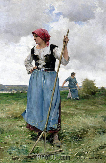 Turning the Hay, undated | Julien Dupre | Gemälde Reproduktion