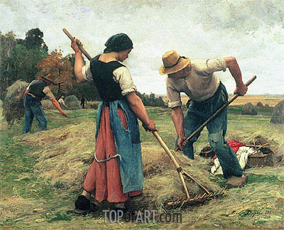 Haymaking, 1880 | Julien Dupre | Painting Reproduction