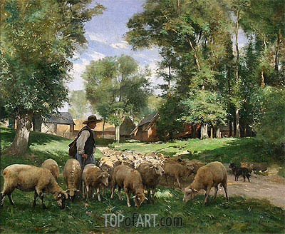 Julien Dupre | A Shepherd and his Flock, undated