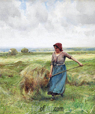 The Haymaker,  | Julien Dupre | Painting Reproduction