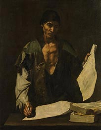 Archimedes, c.1630 by Jusepe de Ribera | Painting Reproduction