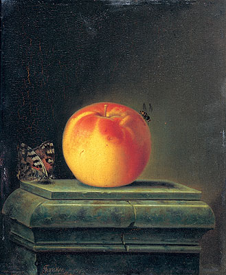 Still Life with Apple and Insects, 1765 | Justus Juncker | Painting Reproduction