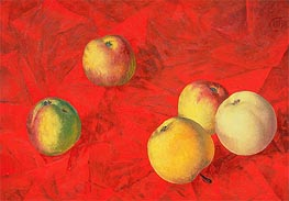 Apples, 1917 by Kuzma Petrov-Vodkin | Painting Reproduction