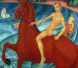 Bathing of the Red Horse, 1912 by Kuzma Petrov-Vodkin | Painting Reproduction