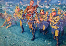 In the Firing Line, 1916 von Kuzma Petrov-Vodkin | Gemälde-Reproduktion