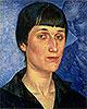 Portrait of Anna Akhmatova   Kuzma Petrov-Vodkin