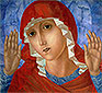 The Mother of God (The Tenderness of Cruel Hearts) | Kuzma Petrov-Vodkin