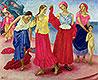 Young Women on the Volga   Kuzma Petrov-Vodkin