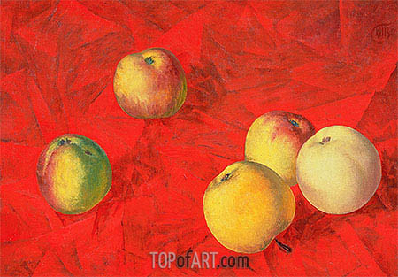 Apples, 1917 | Kuzma Petrov-Vodkin| Painting Reproduction