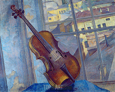 Violin, 1918 | Kuzma Petrov-Vodkin | Painting Reproduction