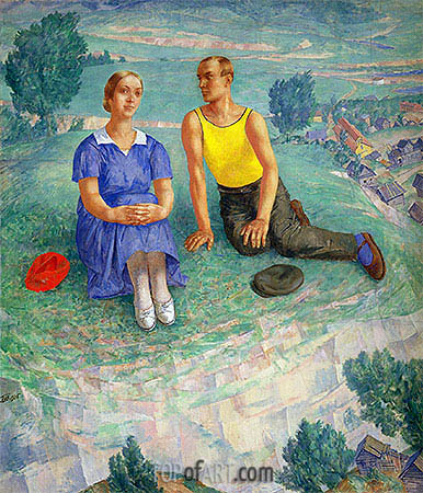 Spring, 1935 | Kuzma Petrov-Vodkin| Painting Reproduction