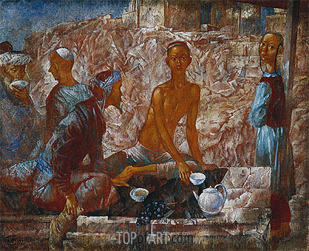Samarkand Scene, 1921 | Kuzma Petrov-Vodkin| Painting Reproduction